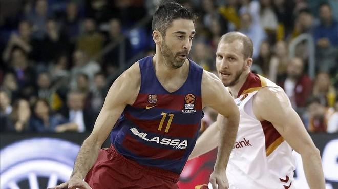 Navarro en el partido contra el Galatasaray