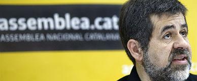 El presidente de la ANC, Jordi S�nchez, en Barcelona.