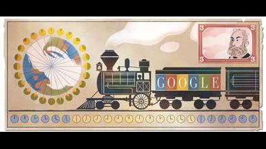 Google rendeix homenatge a Standford Fleming, el creador dels fusos horaris