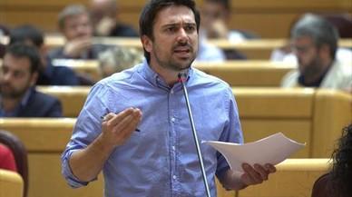 Una 'V' en la carta del Senado, solución para el menú vegetariano de Podemos