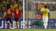 Sergio Ramos falla el penalti ante Julio Cesar