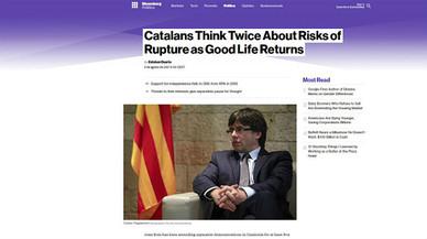 """El retorn de la """"bona vida"""" fa caure l'independentisme, segons Bloomberg"""