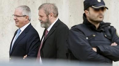 El supuesto n�mero dos de G�rtel, Pablo Crespo, a su llegada a la Audiencia Nacional.
