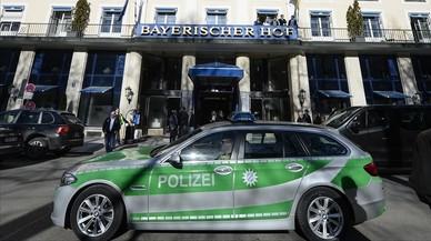 Un coche de la policía alemana.