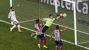 Iker Casillas, durante la final de Champions ante el Atlético