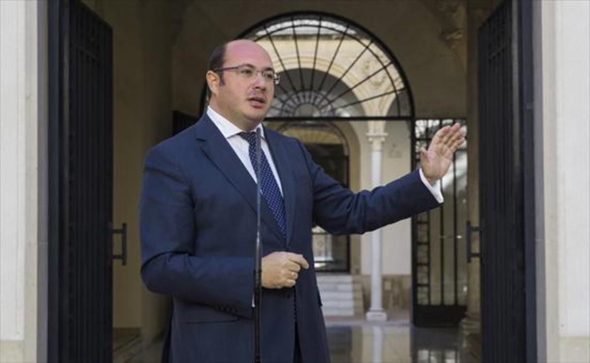 Pedro Antonio Sánchez, presidente de Murcia, ayer.