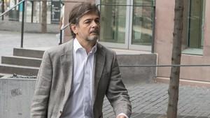 Oriol Pujol entra en la Ciutat de la Justícia el pasado 14 de julio.