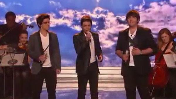 Actuación del grupo Il volo en el concurso 'American idol'.