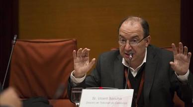 El nuevo responsable de TV-3, Vicent Sanchis, en el Parlament.