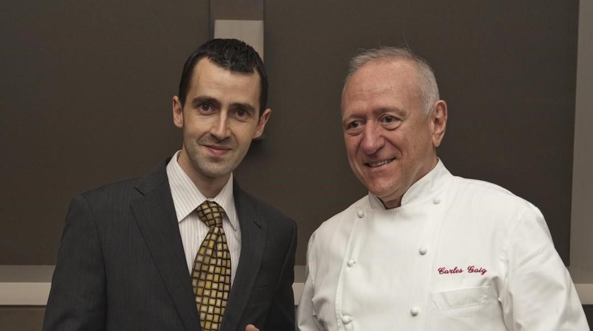 Dos chefs unidos por el agua con gas