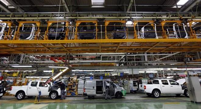 L�nea de montaje en la f�brica de Nissan de la Zona Franca de Barcelona.