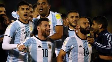 La entusiasta celebración de Argentina en el vestuario