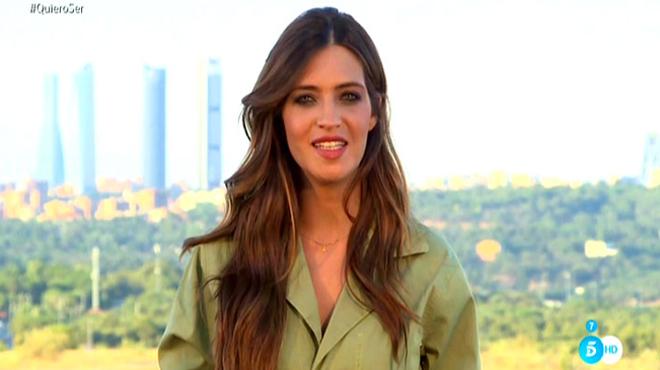 Sara Carbonero no presenta, posa, en 'Quiero ser' (Tele 5).