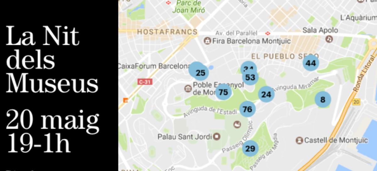 El mapa de la Nit dels Museus 2017 en Barcelona: del Palau Güell a Cosmocaixa