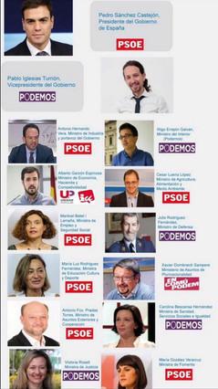 La proposta ministerial de Podem Saragossa: Errej�n per a Interior i Garz�n per a Economia