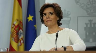 """Santamaría avisa de riesgo de """"recesión"""" en Catalunya"""