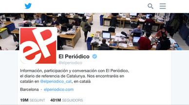 EL PERIÓDICO supera els 400.000 seguidors a Twitter