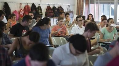 Pruebas de acceso a la universidad en la Universitat Polit�cnica de Catalunya (UPC).