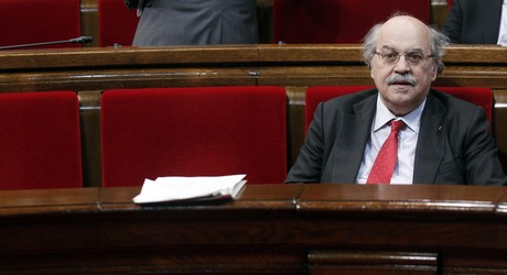 El 'conseller' Andreu Mas-Colell, el pasado da 23, en el Parlament.
