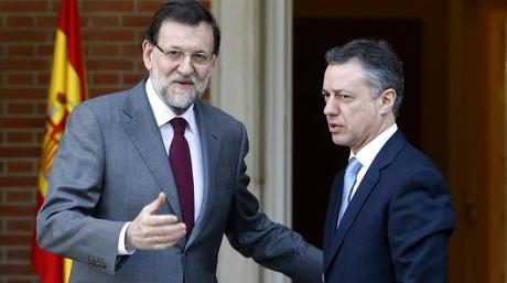 Mariano Rajoy e I�igo Urkullu, en la Moncloa en enero del 2013.