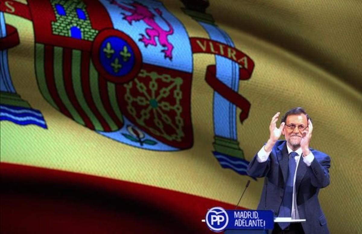 El presidente del Gobierno, Mariano Rajoy, el pasado 17 de marzo en el congreso del PP de Madrid.