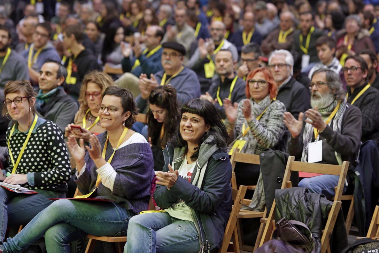 Imagen de la asamblea nacional extraordinario de la CUP