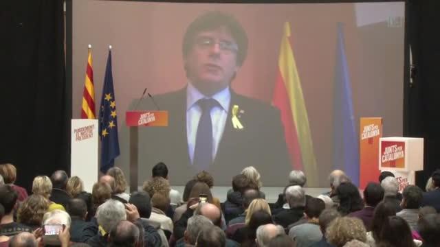 Mensaje de Carles Puigdemont en defensa de la escuela catalana.