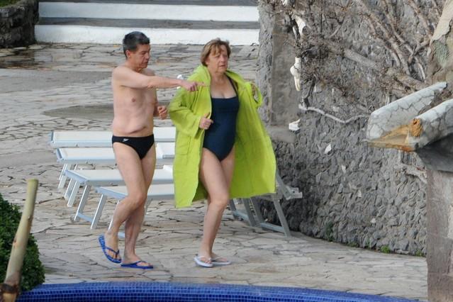 Angela Merkel pasa las vacaciones en Ischia