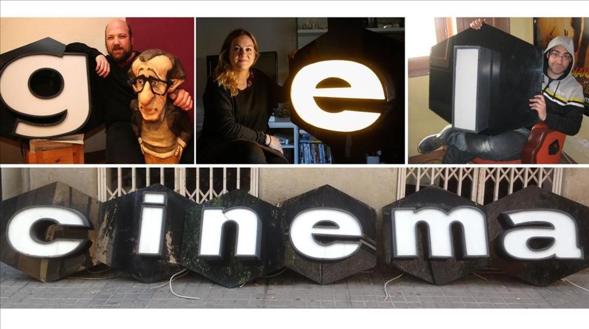 Tres amantes del cine y un anticuario salvaron de la destrucción las icónicas letras del Urgel
