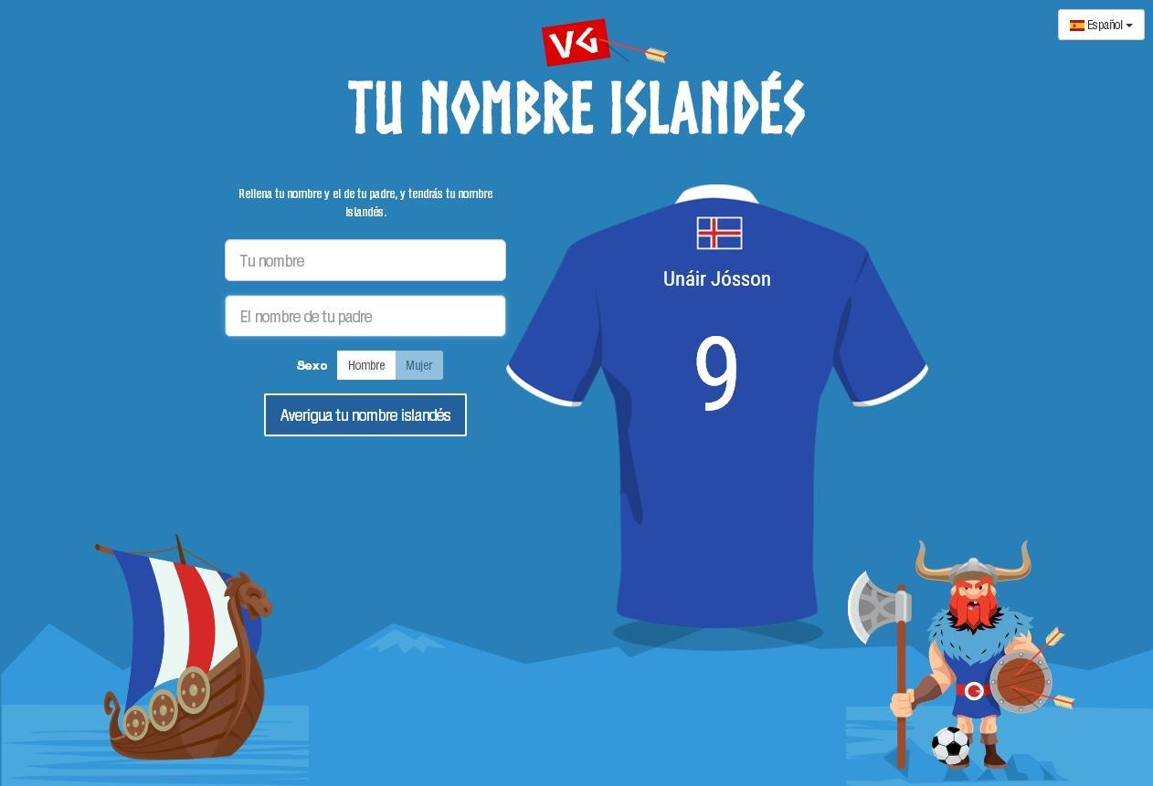 ¿Cómo saldría tu nombre en la camiseta de Islandia?