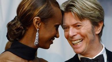 Iman y David Bowie, en una imagen de 2002.