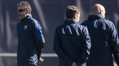Segueix la roda de premsa de Luis Enrique i Suárez prèvia al Barcelona-PSG