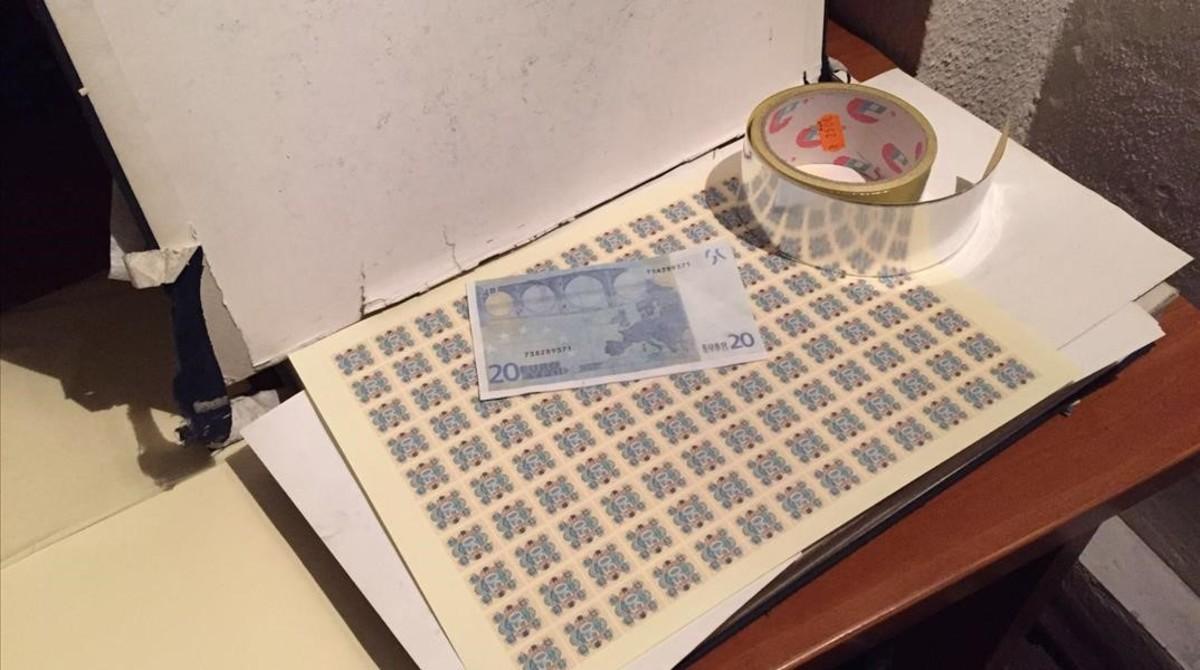 Desmantelado un taller de fabricaci n de billetes falsos en olesa - Tiempo olesa de montserrat ...