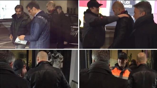 Guardiola, escorcollat abans d'entrar a l'Allianz Arena de Munic