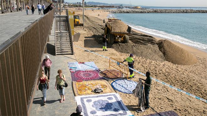 Recta final per inaugurar la temporada de bany a les platges metropolitanes