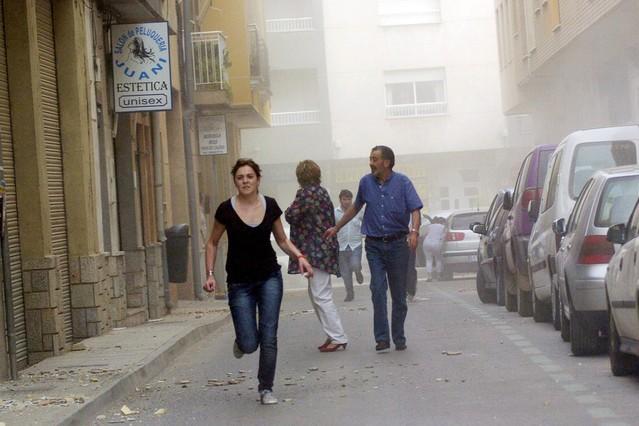 Al menos cinco muertos tras dos terremotos registrados en - Lorca murcia fotos ...