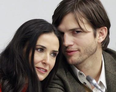 Demi Moore y Ashton Kutcher, en una fotografía de noviembre del 2010.