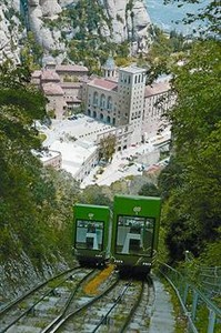 El funicular de Sant Joan, que supera una pendiente mixma del 65%.