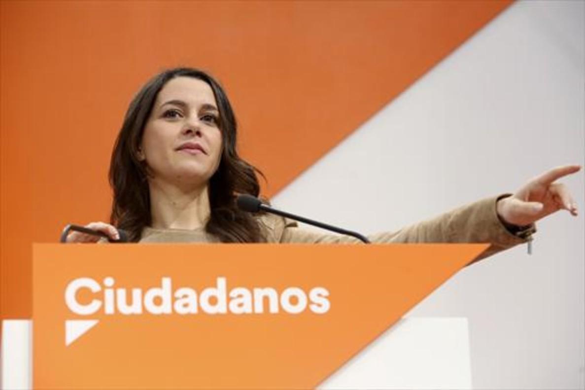 Ciudadanos El partido de Inés Arrimadas criticó la «presión» al TSJC.