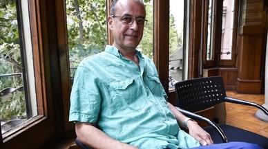Antoni Abad, este viernes en la sede del Institut Ramon Llull, donde ha presentado el proyecto que representar� a Catalunya en la Bienal de Arte de Venecia.