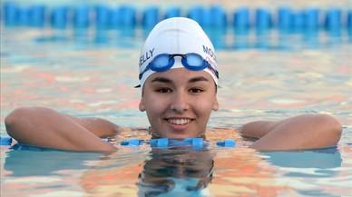 Daniah Hagul, nadadora libia de 17 a�os, en la piscina nacional Msida en Malta, el 15 de julio del 2016.