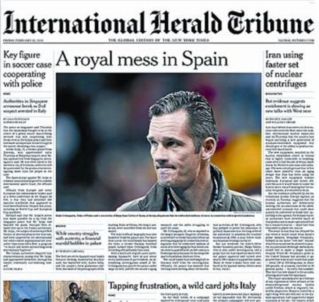 El �esc�ndalo real�, en el 'New York Times'
