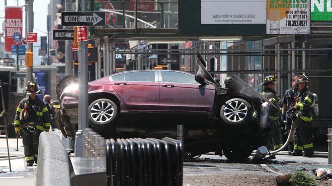 Espectacular imatge de l'atropellament de Times Square