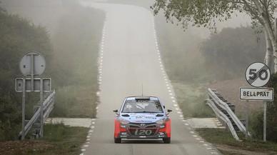 El Hyundai i20 WRC en el tramo de demostraci�n.