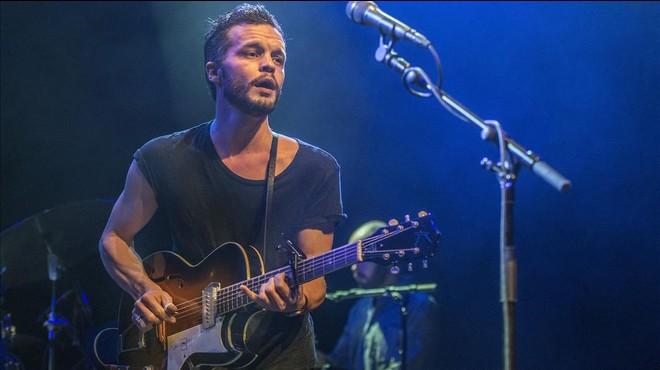 Kristian Matsson, alias The Tallest Man On Earth, en el concierto del mi�rcoles en la sala Barts.
