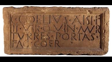 Caius Coelius hizo las murallas, torres y puertas de Barcino