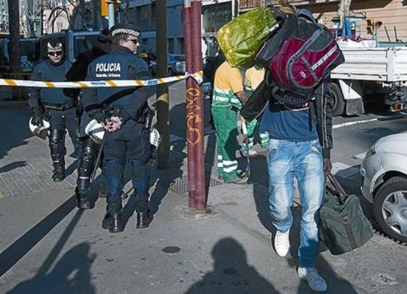 Los desalojados de Zamora se reinstalan en otras naves