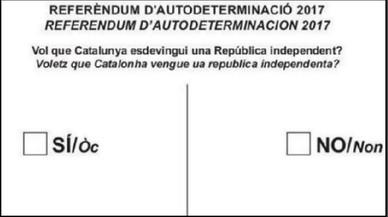La CUP propone una papeleta para el referéndum de independencia con la pregunta en catalán y aranés
