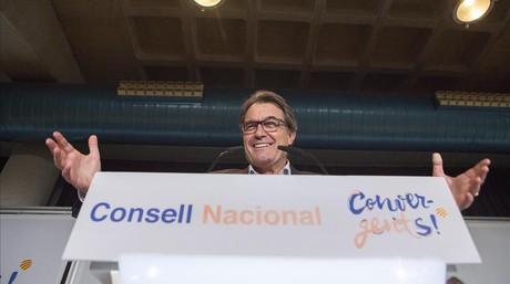 El presidente de la Generalitat, Artur Mas, este