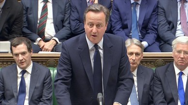 El primer ministro brit�nico, David Cameron, en su primera comparecencia parlamentaria tras el 'brexit'.